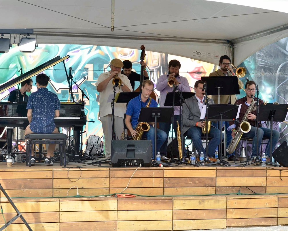 With the Synergy Nonet at the Des Moines Jazz Festival 09/03/16