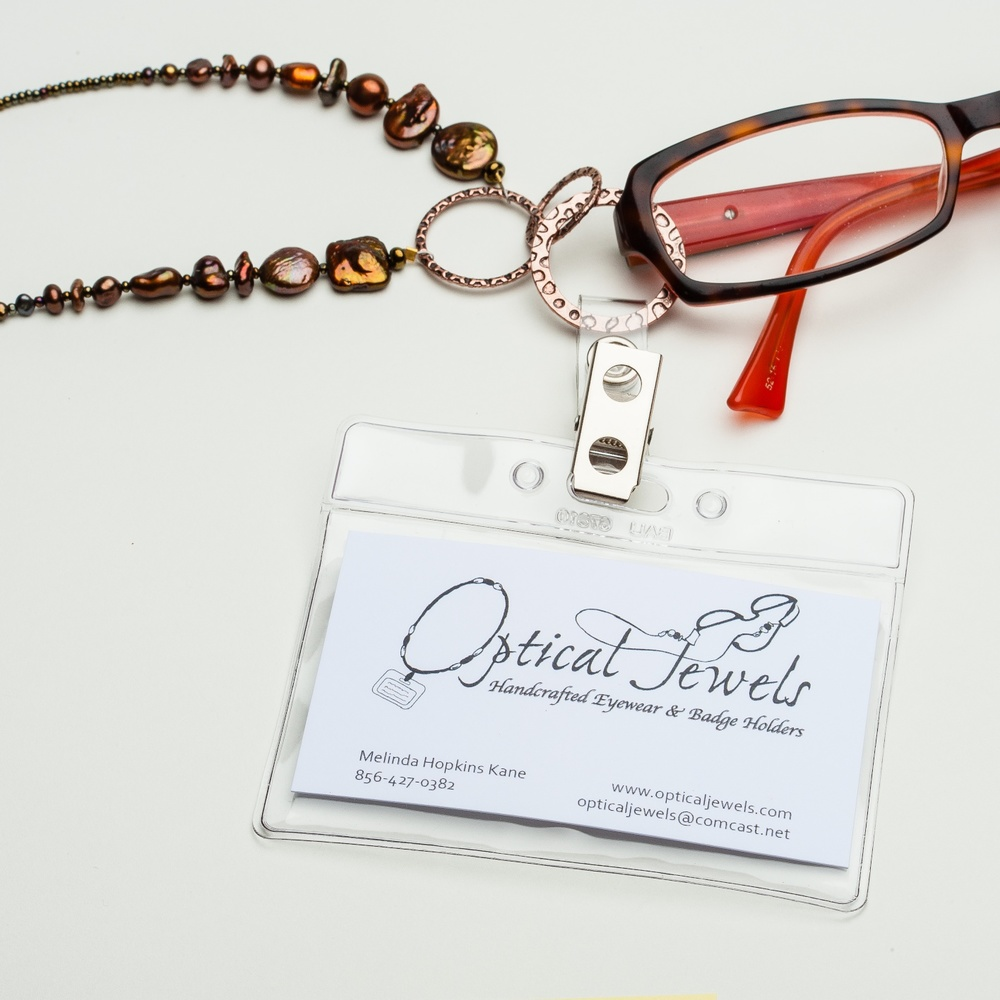 Our stylish and functional design is perfect for the board room or the classroom. The badge holders are designed with the option of holding both your badge and your eyewear. To purchase a badge holder, add the badge clip to your purchase of a ring style holder.