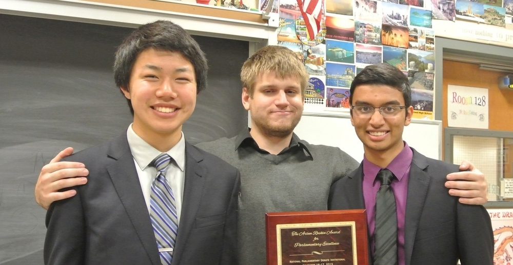 Mr. Domalewski coached 2013 NPDI victors Dougherty Valley Konath & Wang.