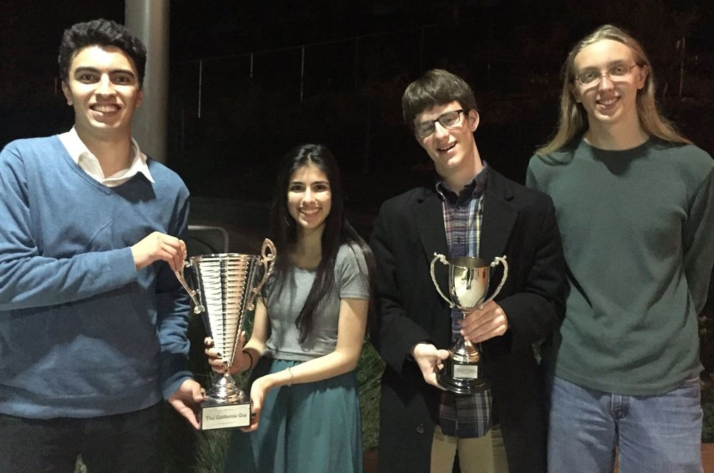 (from left) Basil Abushama, Nadia Cochinwala, Spencer Dembner, and Steven Herman