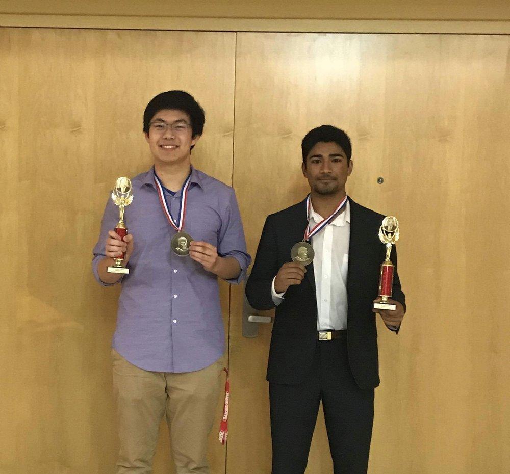 Deng & Visht pose after awards ceremony ( Image courtesy of Krish Visht)
