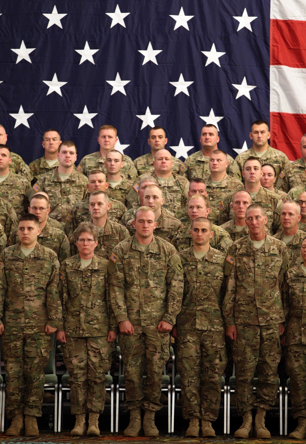 Troops ready to delpoy to the Middle East