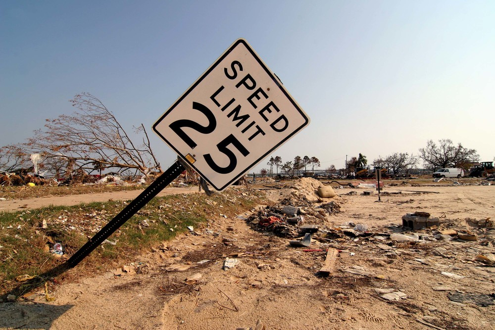Hurricane Katrina damage - Biloxi, Mississippi - 2005