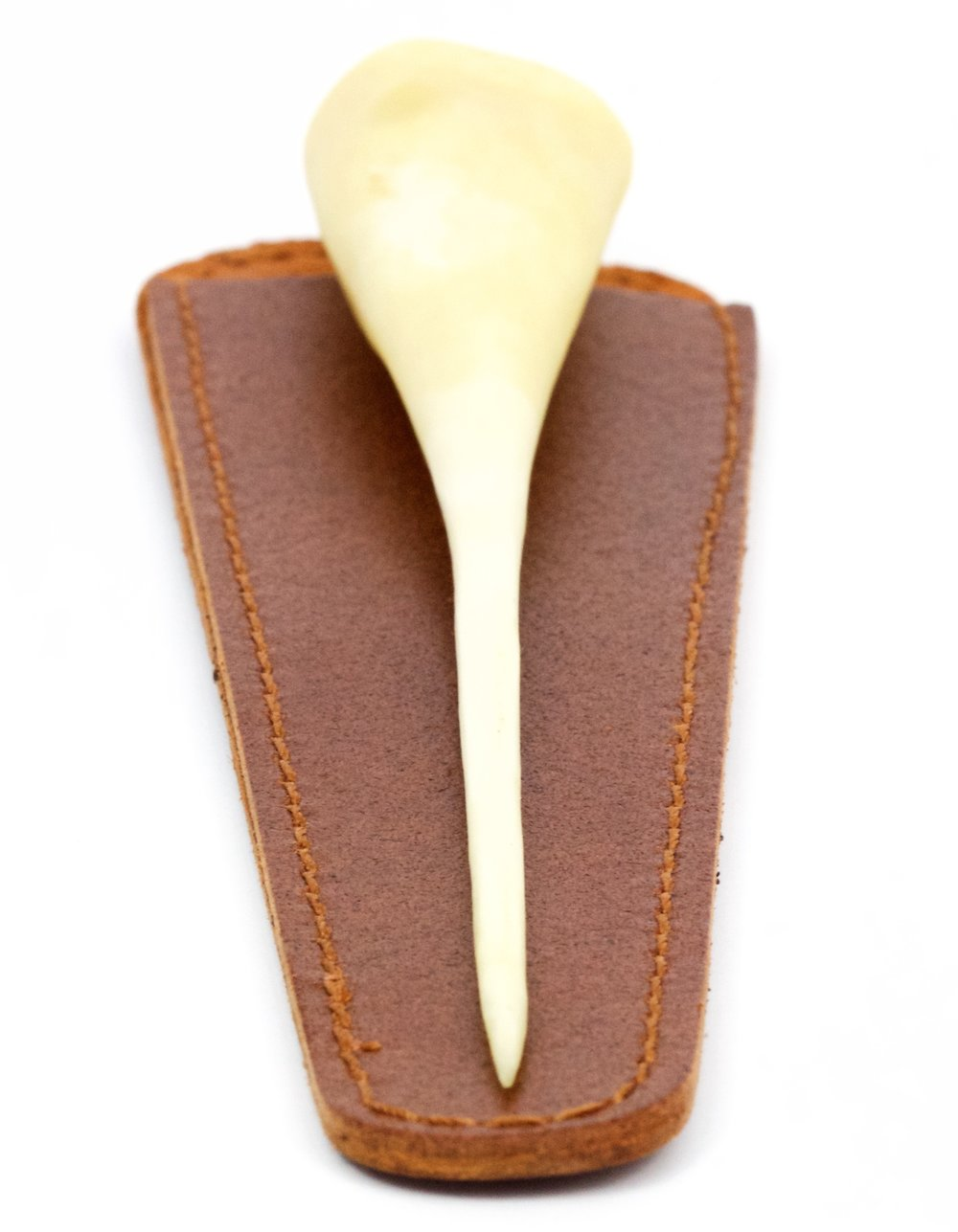 """Ago d'Osso di Cavallo - Authentic Horse Bone Needle from Parma with Italian Leather CaseUse """"AGO-FREE"""" in check out for the free USPS Express 1-2 Day Overnight Shipping during checkout!"""
