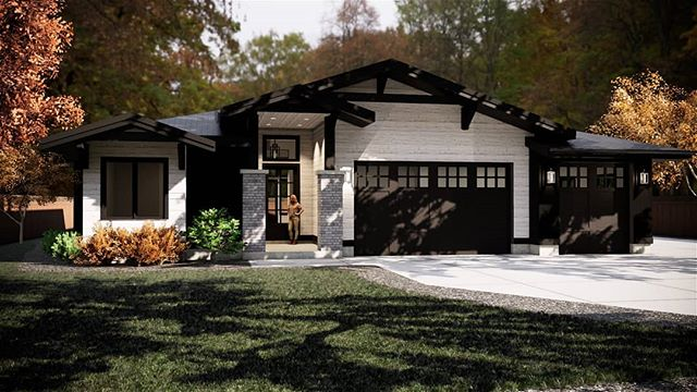 Inviting single level patio home with a Craftsman influence.  #patiohome #singlestoryhome #customhome #craftsmanhome #luxuryhomes #residentialarchitecture #residentialdesign #beautifulhomes #privatehouse  #sierraplans #architecture