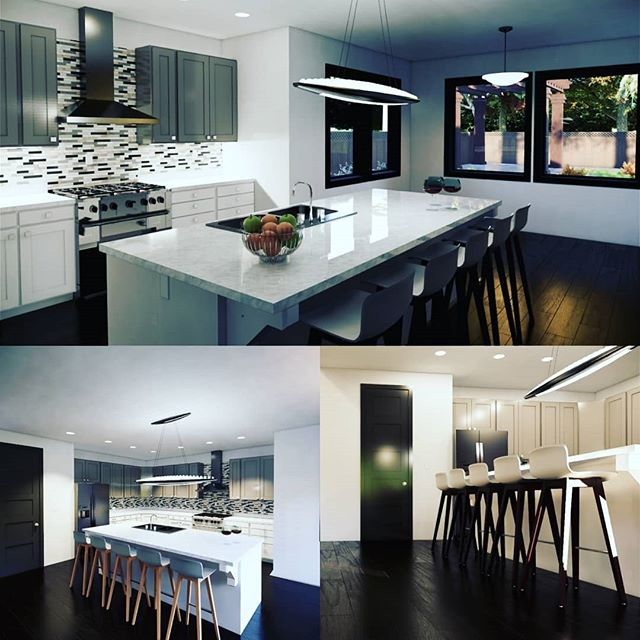 Fun and functional kitchen design for 2,200 sq ft single level home. This has been one of our more popular plans.  #kitchen #kitchendesign #dreamkitchen #interiordesign #residentialdesign #homedecor #architecturephotography