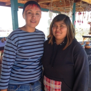 These two Navajo sisters from northern Arizona were great to interview. One was shy and the other extremely outgoing and lively. I saw that personality difference in seconds.