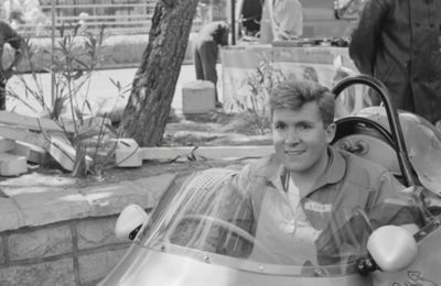 Lance behind the seat of his Scarab GP-2 -