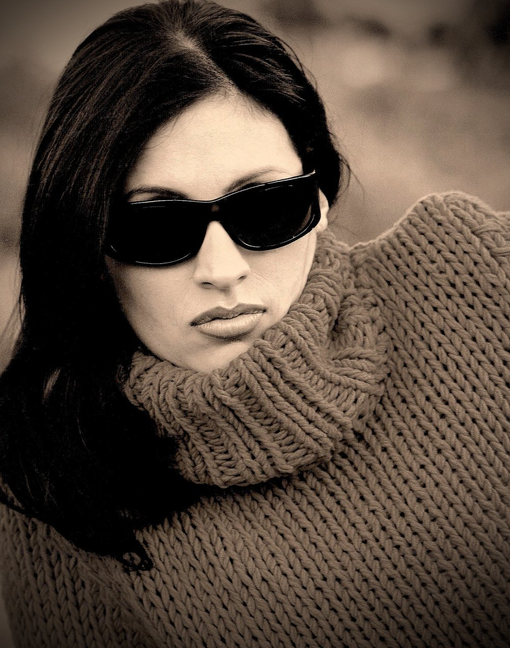 Model photographed on cloudy day with 85mm 5.6@60th 100 ASA.