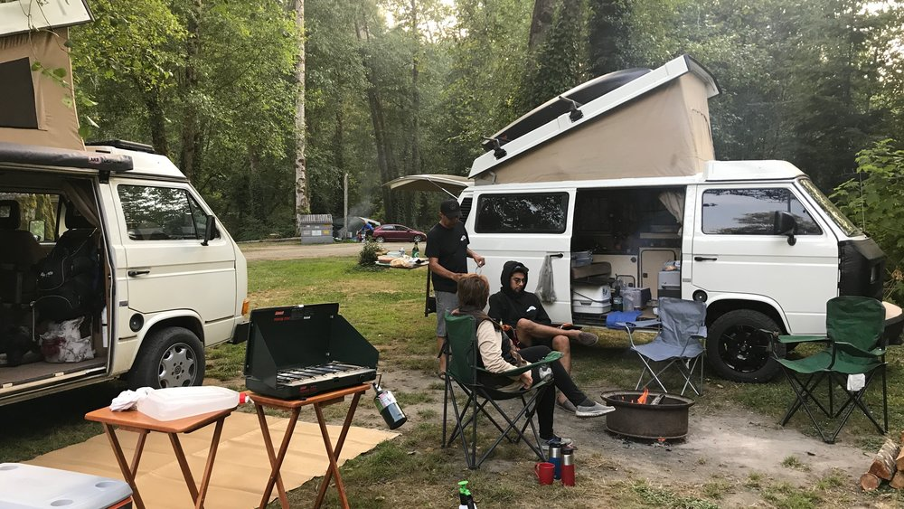 Back in Klamath at the campsite with Jerry and his son. Turns out they own Quality Automotive in Whittier, California.