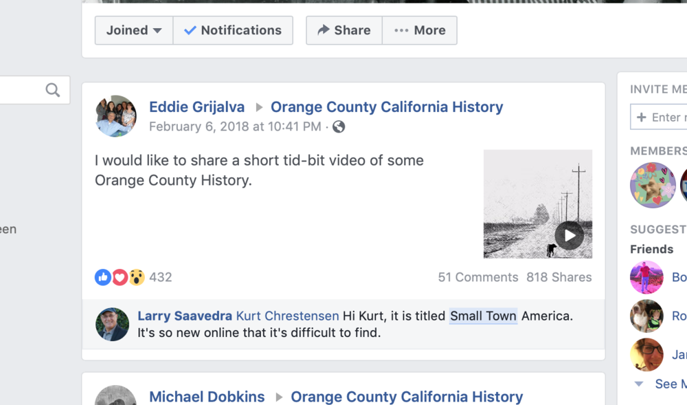The popularity of human interest stories is evident in the stats from this Facebook post about small towns.