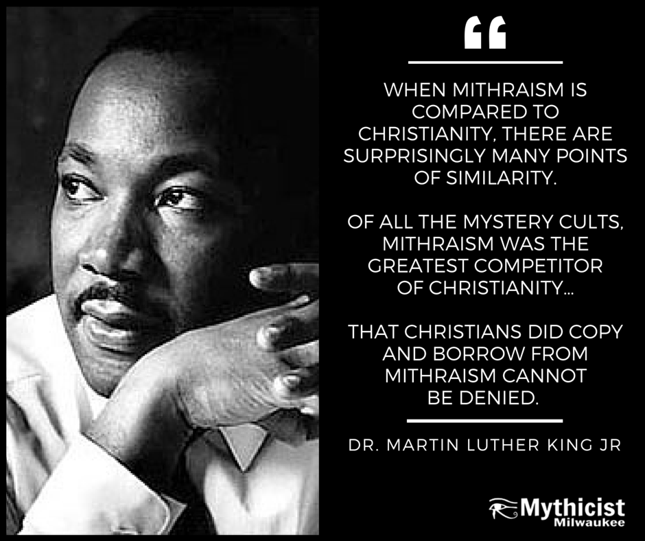 Martin Luther King JR Mithras Mithraism Christianity