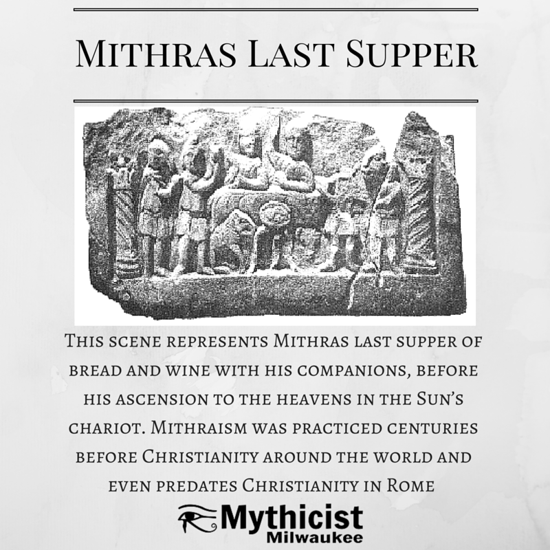 Mithraism last supper Christianity