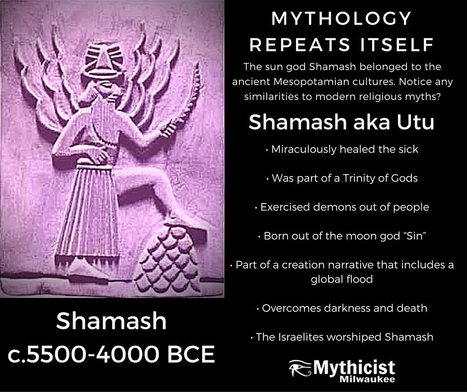 Shamash Utu Babalonian Mesopatamian Akkadian Christ Jesus Myth Moses