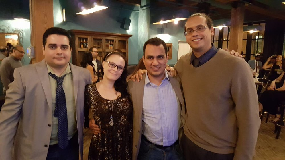 From left to right: MM co-founder Sean Fracek, U-CoR representative Melissa Pugh, Iraqi-born human rights activist Faisal S Al Mutar, MM co-founder Antonio Blandon.