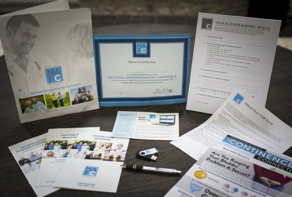 National Association For Continence Professional Membership Kit Contents