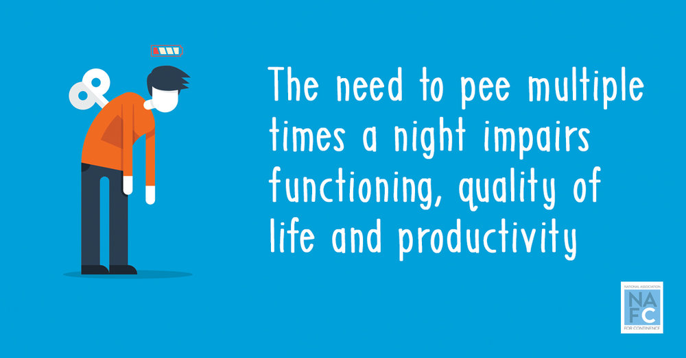 The need to pee multiple times a night impairs functioning, quality of life and productivity.