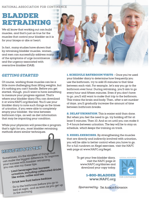 NAFC Bladder Retraining Tips Sheet