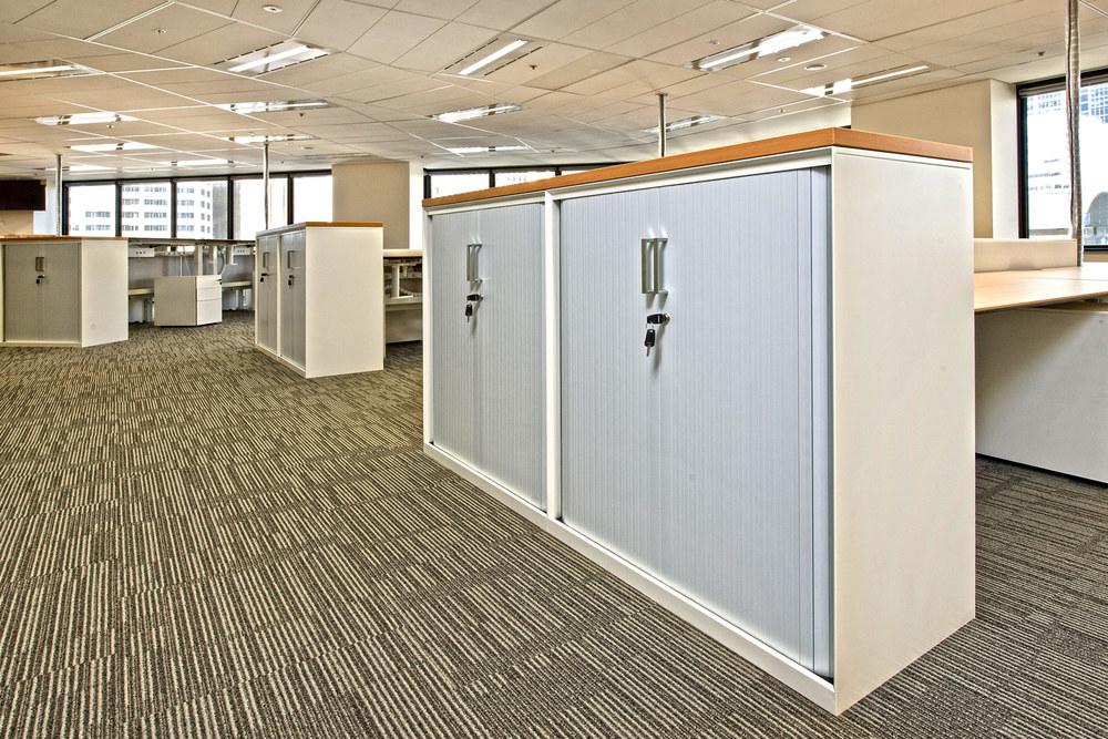 Smart Tambour storage solutions.