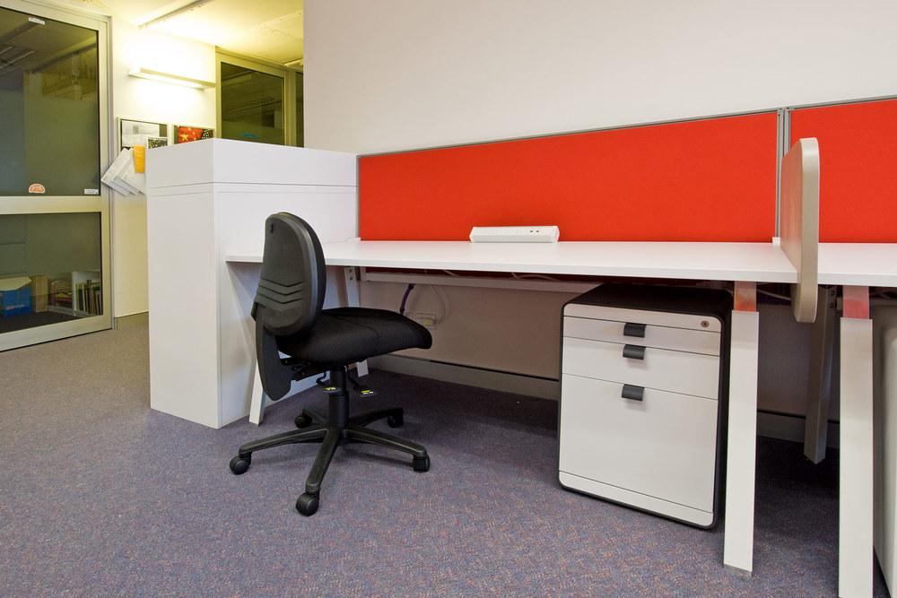 Tranzyt desk and Tambour Storage Unit