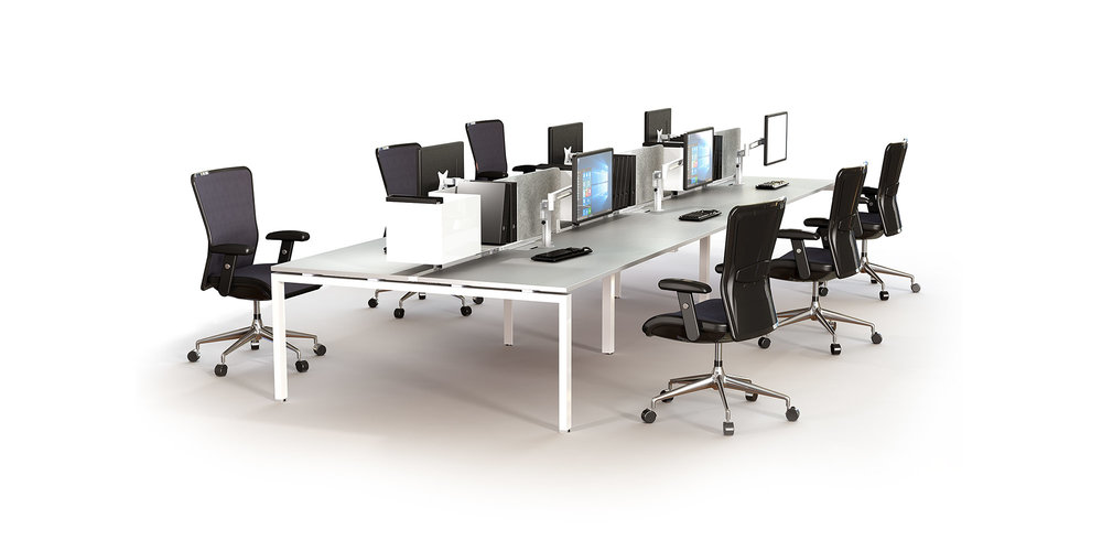 Scale - SCALE proves that economic sensibility, versatility and good looks aren't mutually exclusive. An elegant desk-based system, SCALE's modular frames are available in welded steel frame or aluminium modular components allowing workstation sizes to be easily altered on site. Despite its minimal profile, SCALE offers great operational flexibility including technician height-adjustable desktop options.