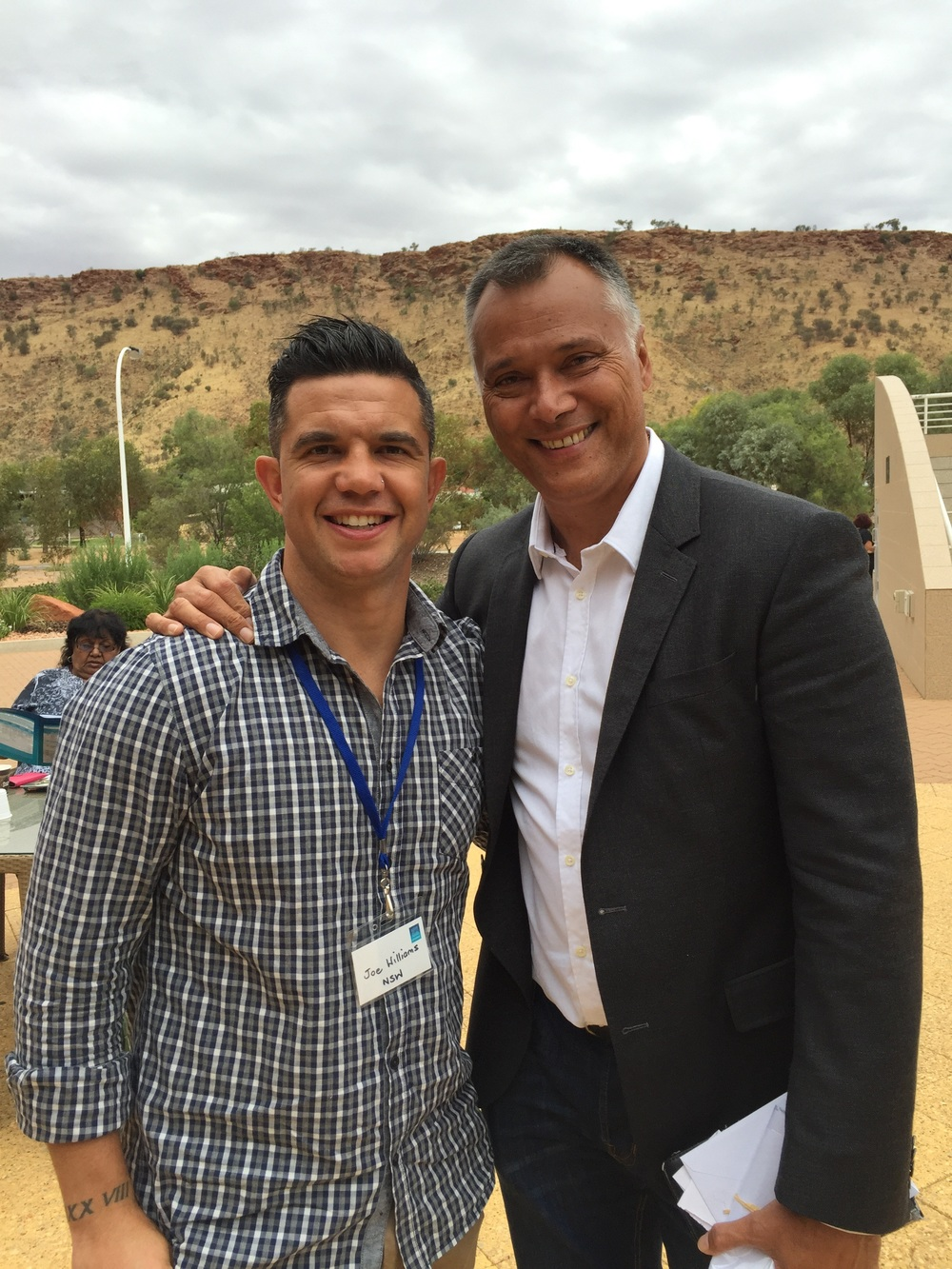 With cousin Stan Grant