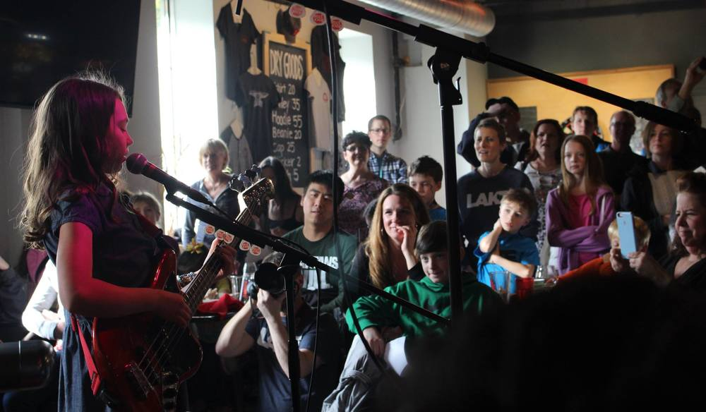 The Westside Horns perform at The Workshop Brewing Co in Traverse City during The Rock Stop Winter Show
