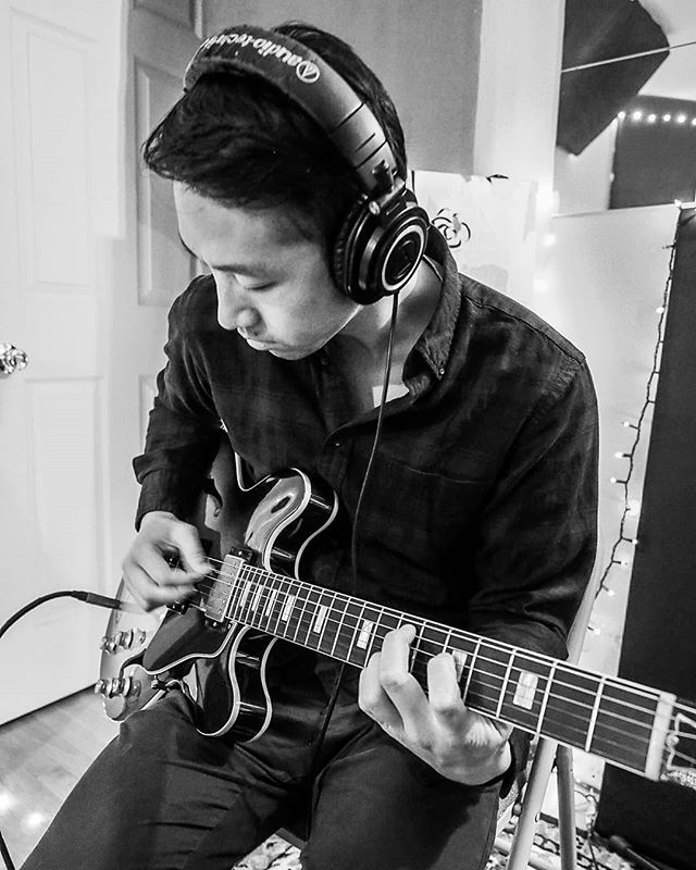 In the studio: Jon tracking rhythm guitar. Running his @gibsonguitar ES335 direct into @baeaudio 1073. . . #recordingstudio #recording #guitar #newalbum #newep #newrecord #dance #poprock #indie #pop #popmusic  #indiemusic #gibson #es335 #audiotechnica #baeaudio #protools #dcmusic #dmvmusic #dmvmusicians #washingtondc #dc #skylinehotelmusic