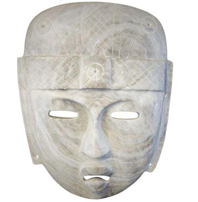 White Marble Mask