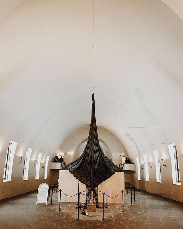 "Deeper travel is engrained in our company. Not to simply visit a place, but to embrace and learn from cultures different from our own. This past weekend we had the opportunity to visit the Viking Museum in #Oslo with our friend @kari_enge, founder of @rankandfilemag. Learning the history and taking in each detail of the Viking ships reminded me of Louisa May Alcott's quote, ""I'm not afraid of storms, for I am learning how to sail my ship."" While we don't plan to pillage and plunder villages any time soon, we were inspired by the Vikings spirit for adventure and their travels across expansive seas in these open shallow ships; inspired by the fact that they, just like all great explorers, didn't let the unknown before them or fear of stormy seas keep them from beginning their journeys. We were reminded of our own small business journey and how we saw a rising storm in the distance. That storm was the realization that we needed to change our business model, course correct if you will, to truly make the sustainable impact we desired. That's why we created @shoptravelpatterns. Purpose driven companies cannot fear the storms, for sooner or later they will come. We must simply continue to learn to sail our own ship, and course correct as necessary. If you're in the midst of a storm or fear one that has not yet sprung up before you, we encourage you to simply stay at the helm. You can do this; you can weather the storm. Change course if need be, but don't jump ship! 🛶⛵️"