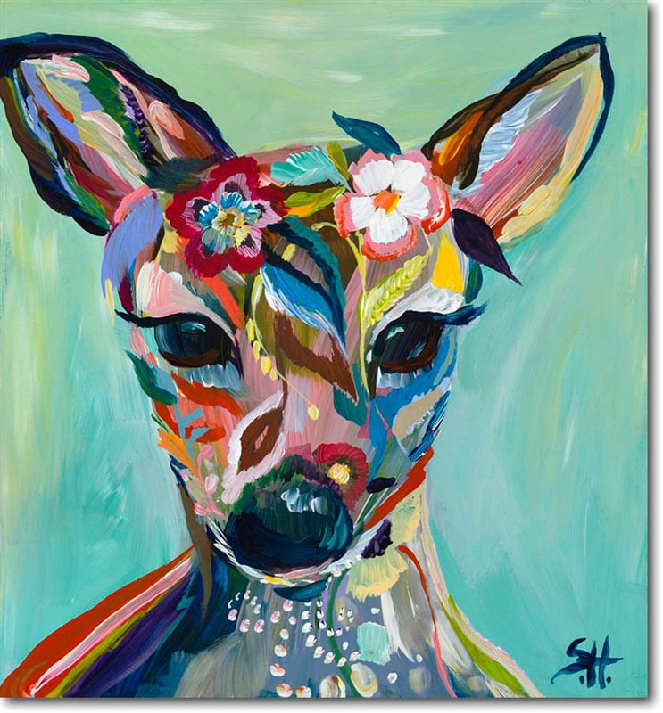 """Abstract Fawn"" Click on the picture for Limited Edition Print."