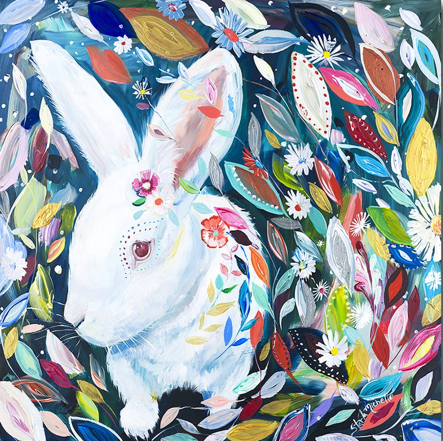 """Bunny in Wonderland"" Click on the picture for Limited Edition Print."