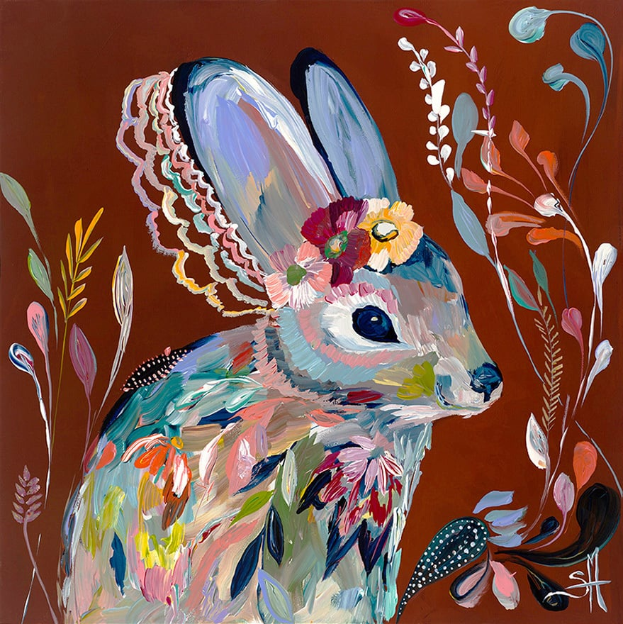 """Clandestine Hare"" Click on the picture for Limited Edition Print."