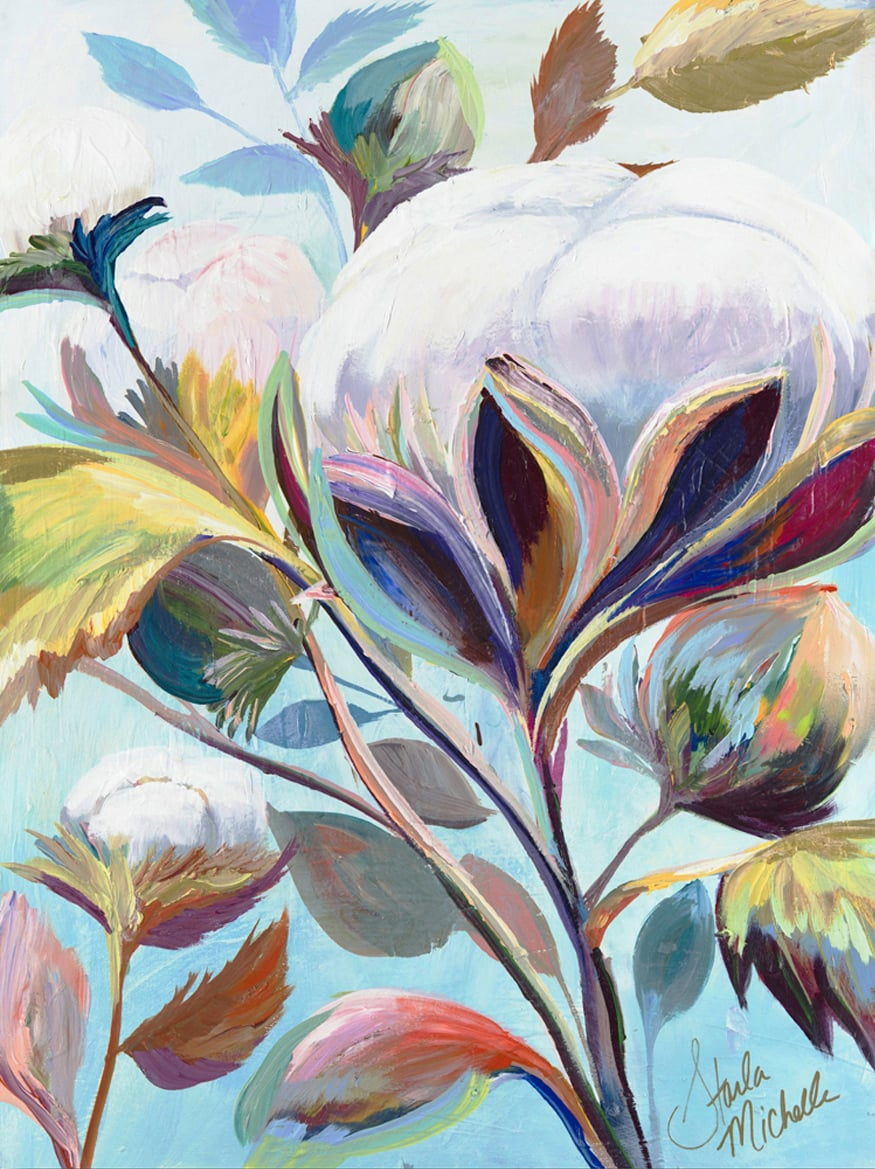 """Cotton Blooms II"" Click on the picture for Limited Edition Print."