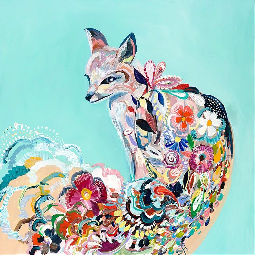 """Fancy Fox III"" Click on the picture for Limited Edition Print."
