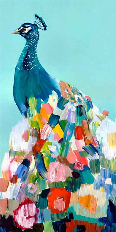 """Floral Peacock"" Click on the picture for Limited Edition Print."