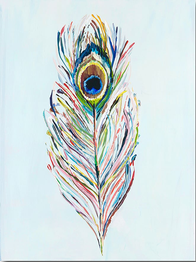 """Peacock Feather"" Click on the picture for Limited Edition Print."