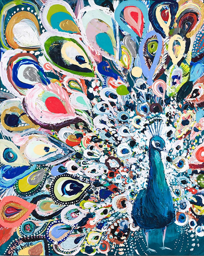"""Peacock Rainbow"" Click on the picture for Limited Edition Print."