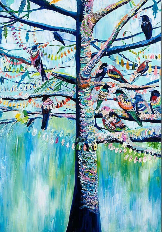 """Pigeon Tree"" Click on the picture for Limited Edition Print."