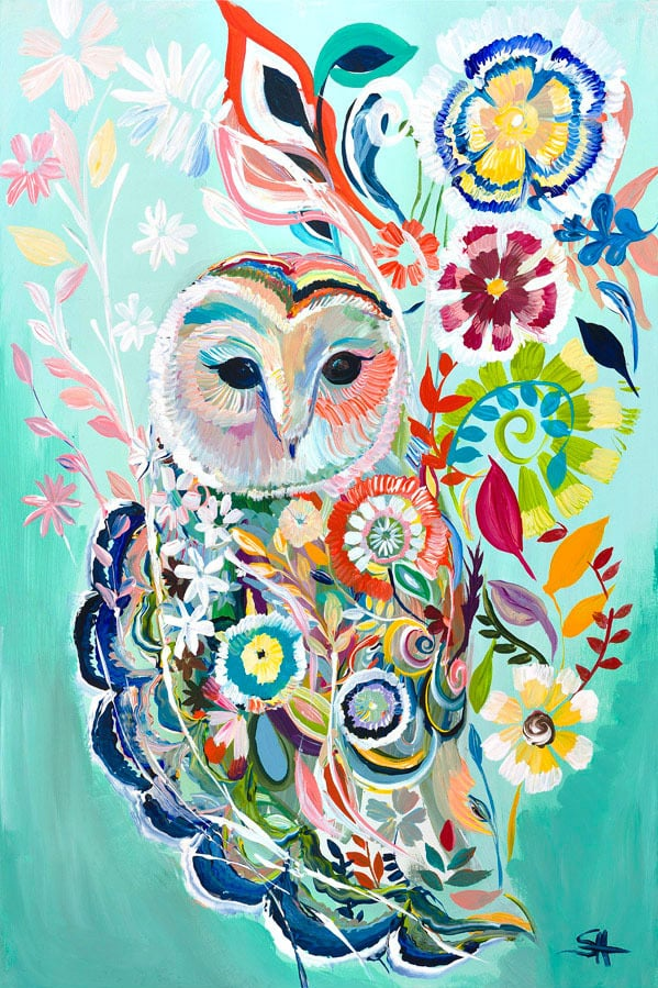 """Sunburst Owl"" Click on the picture for Limited Edition Print."