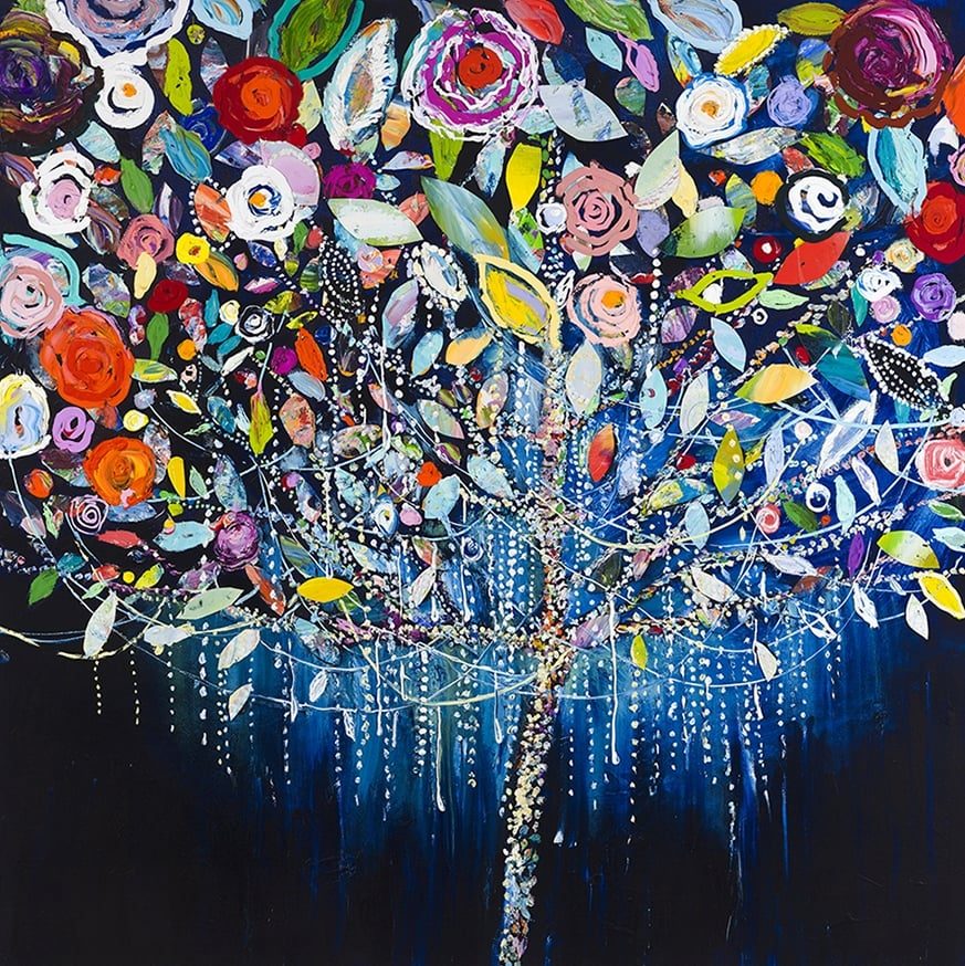 Tree of Lights $8,900.00  48 x 48   Oil on Gallery Wrapped Canvas