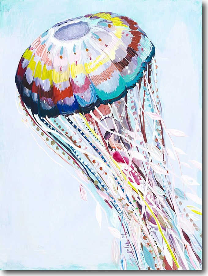 """J for Jellyfish""   Click on the picture   for a Limited   Edition Print."