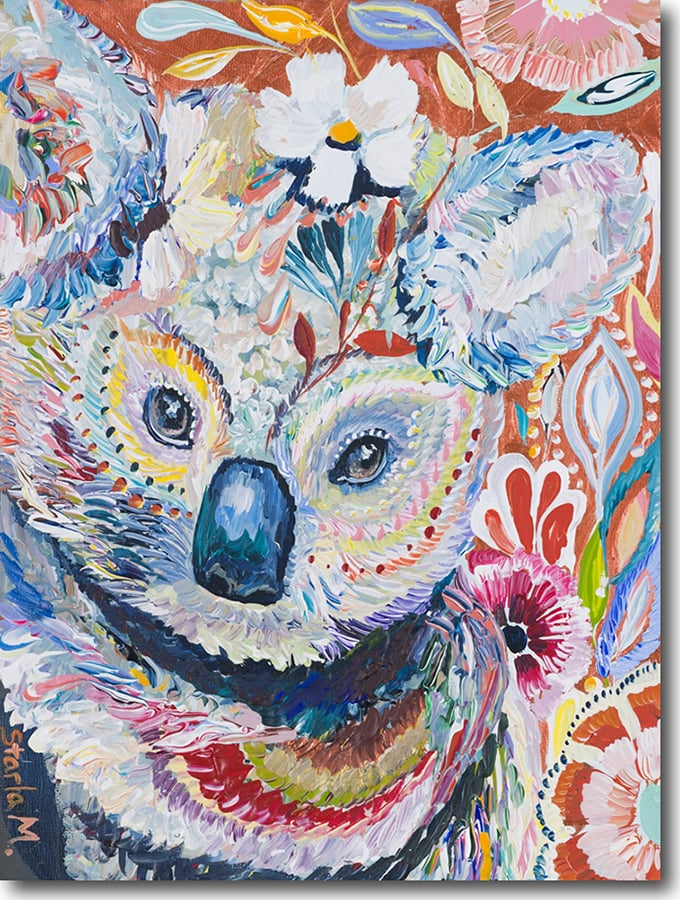 """K for Koala""    Click on the picture   for a Limited   Edition Print."