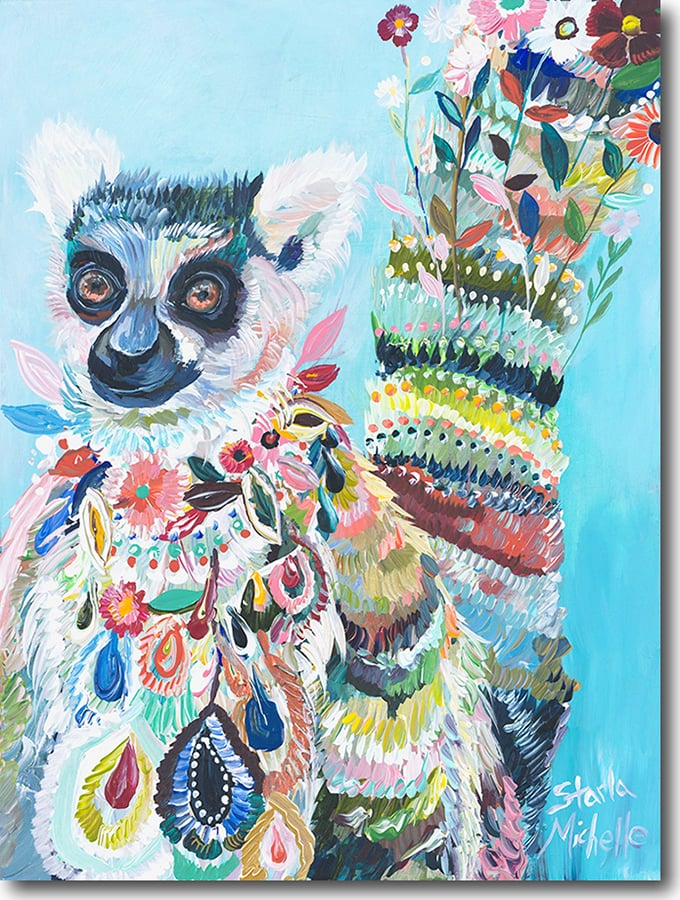 """L for Lemur""    Click on the picture   for a Limited   Edition Print."