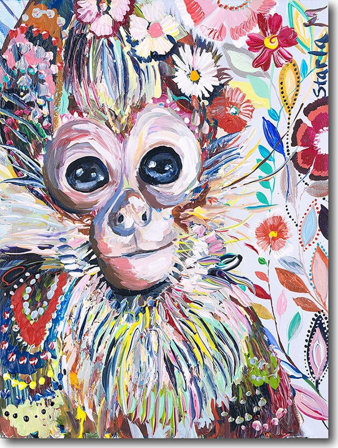 """M for Monkey""  Click on the picture for a Limited Edition Print."