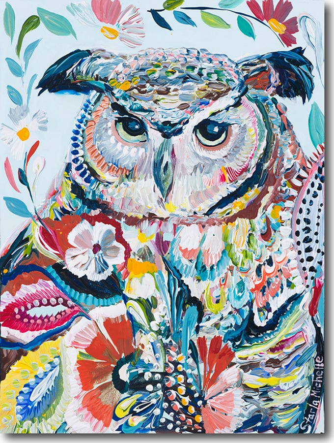 """O for Owl""    Click on the picture   for a Limited   Edition Print."