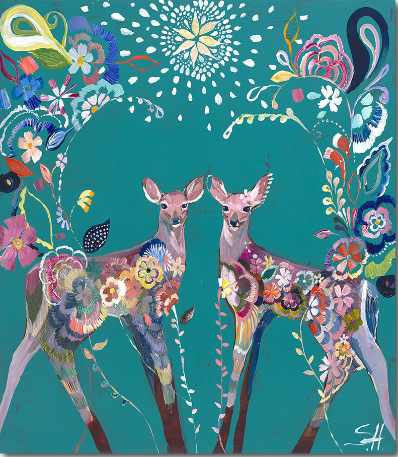 """Folklore Fawns"" Click on the picture for Limited Edition Print.."