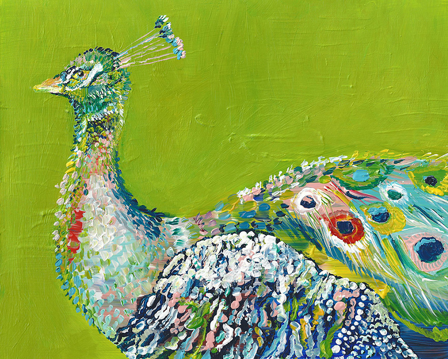 """Green Peacock"" Click on the picture for Limited Edition Print."
