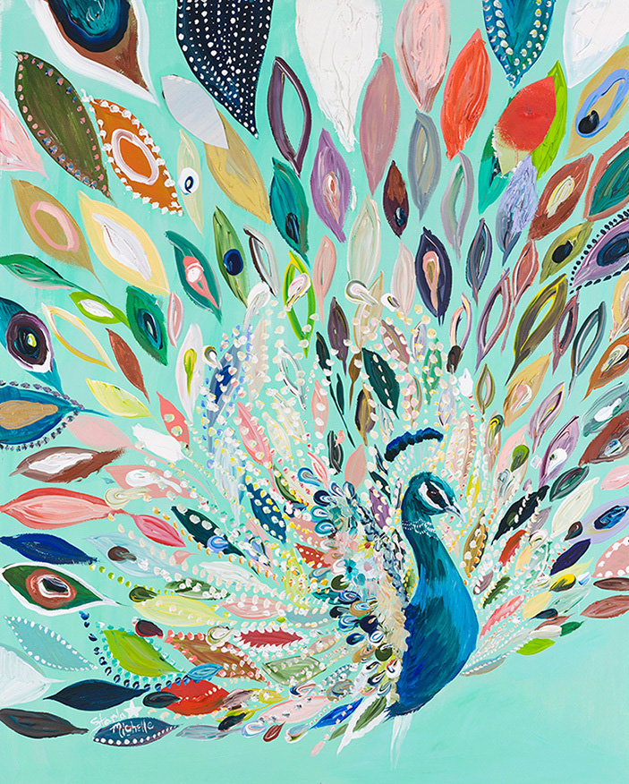 """Peacock Blue"" Click on the picture for Limited Edition Print."