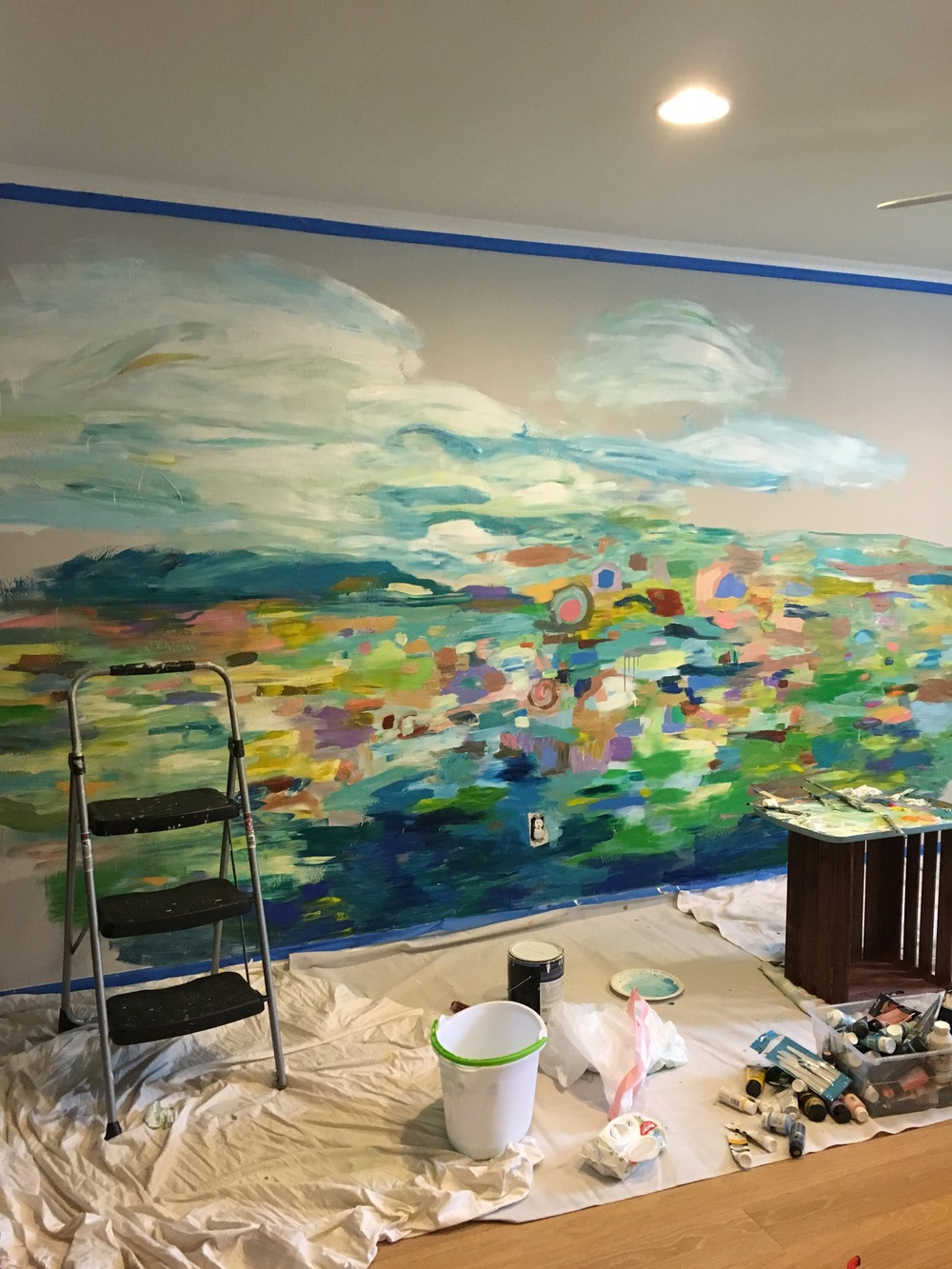 ... Below To Refresh Your Memory), And I Have Been Itching At The  Opportunity To Paint Another Mural! Here Are A Few Photos Of The Wall Mural  Progress: